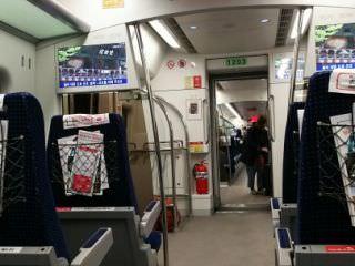 車内も 日本語の案内が出ます
